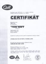 certifikat ISO
